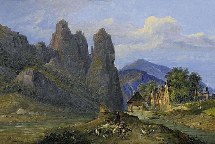 Dietzler, Johannes Jakob1789 Ehrenbreitstein - 1855 Andernach - attributed Mountain landscape.