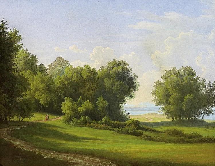Papperitz, Gustav FriedrichDresden 1813 - 1861 Morgens am Ammersee.