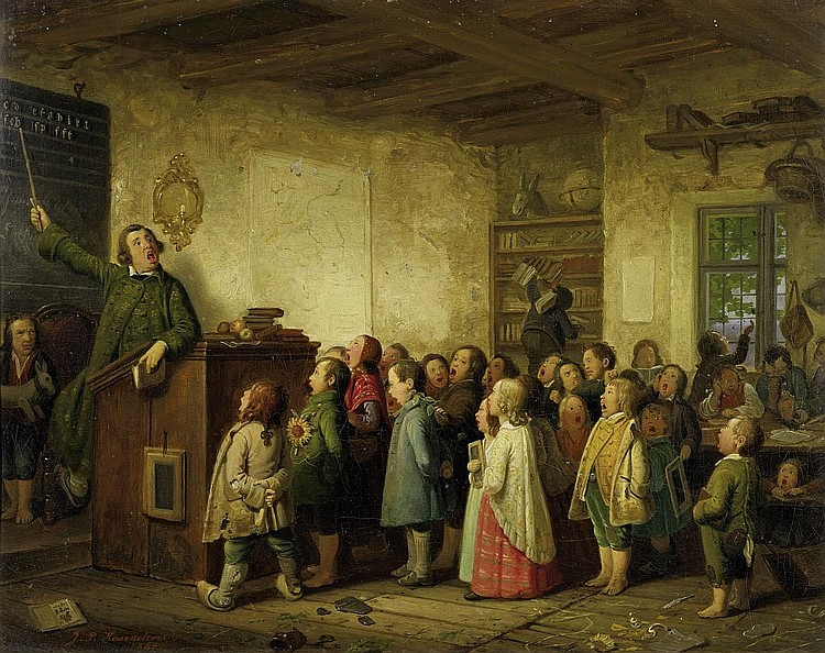 Hasenclever, Johann Peters1810 Remscheid - 1853 Düsseldorf The village schoolhouse.