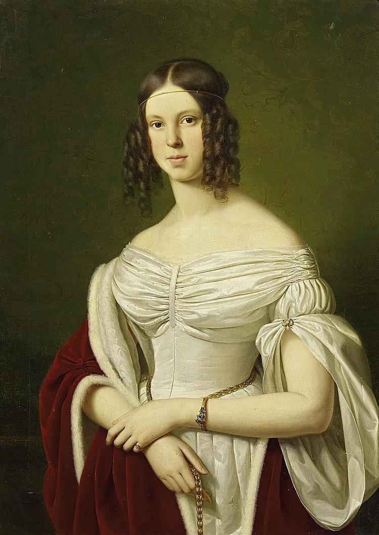 Ittenbach, Franz1813 Königswinter - 1879 Düsseldorf Portrait of Marie Felicitas zu Fürstenberg (1822-1870).
