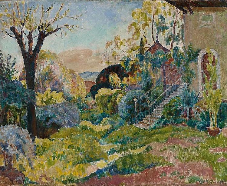 Bondy, Walter  1880 Prague - 1940 Toulon    Garden in Provence.