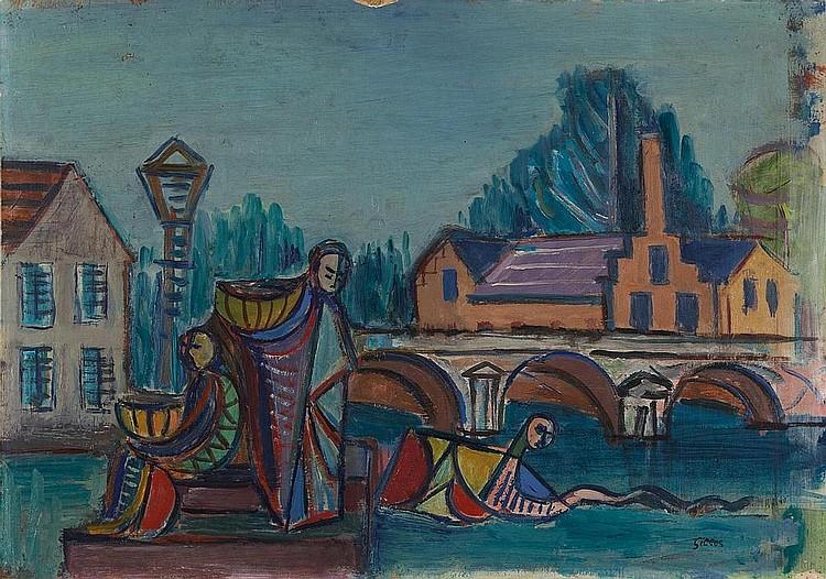 Gilles, Werner  1894 Rheydt - 1961 Essen    Boat trip.