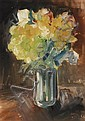 Hoerle, Heinrich  Cologne 1895 - 1936    Bouquet in a glass vase., Heinrich Hörle, Click for value