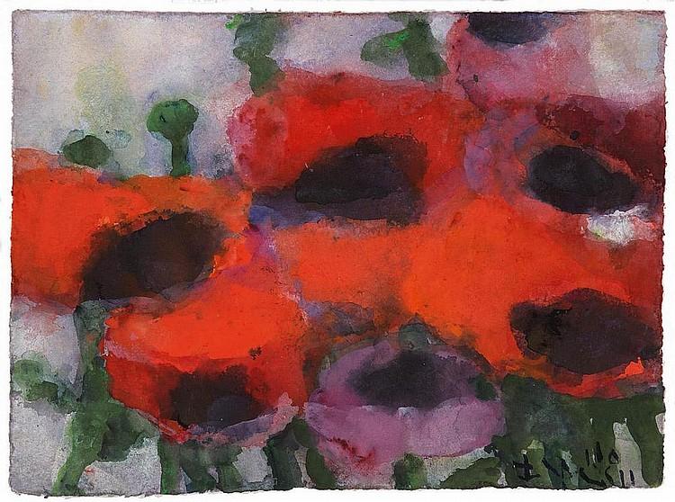 Fussmann, Klaus  1938 Velbert    Poppies.