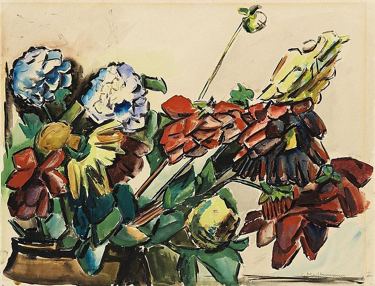 Meistermann, Georg  1911 Solingen - 1990 Cologne    Still life with Flowers.
