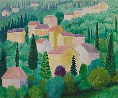 Möller, Otto 1883 Schmeidefeld - 1964 Tuscan Landscape.