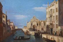 Antonio Canal: View of the Rio dei Mendicanti and Scuola Grande di San Marco in Venice