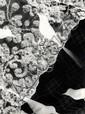 Horn, Hilde1897 Köln - 1943 Krailling (Starnberg)Photogramm mit Spitze und Vögeln. 1920er Jahre. Vintage. Gelatinesilberabzug. Agfa-Brovira. Rückkarton. Passepartout. 23,9 x 17,9cm Auf der Kartonrückseite mit Bleistift signiert und Adressangabe.