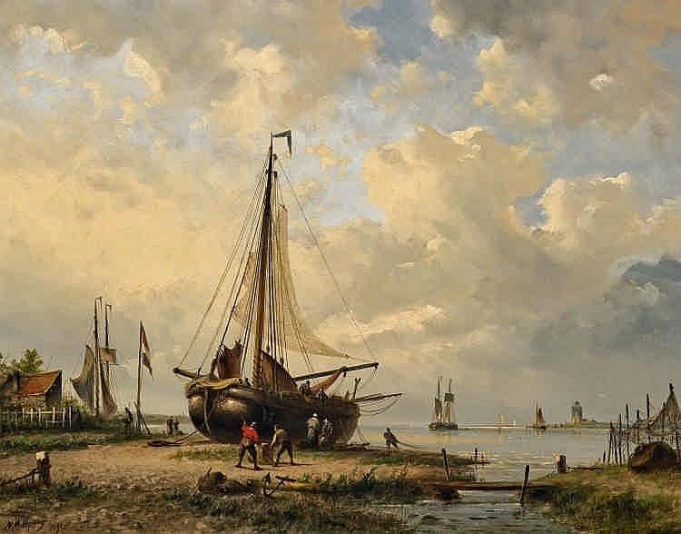 1824 Koog aan de Zaan - 1898 CopenhagenHauled-off Fishing Cutter.