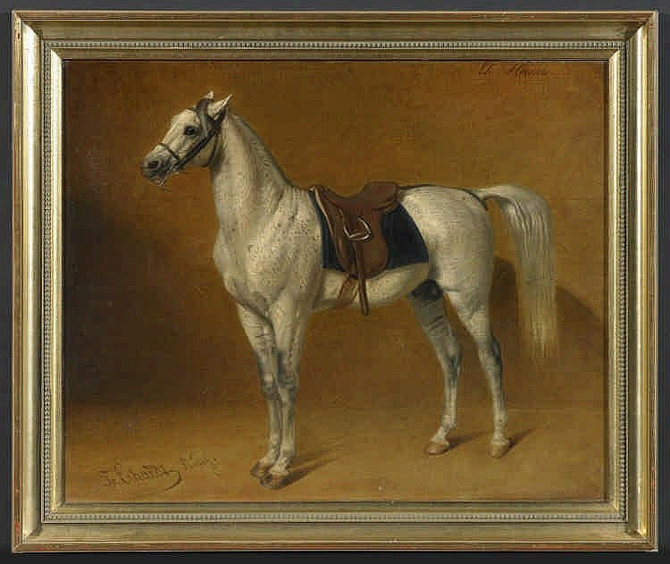 1825 Winterbach 1881 Stuttgarttwo Paintings Horses