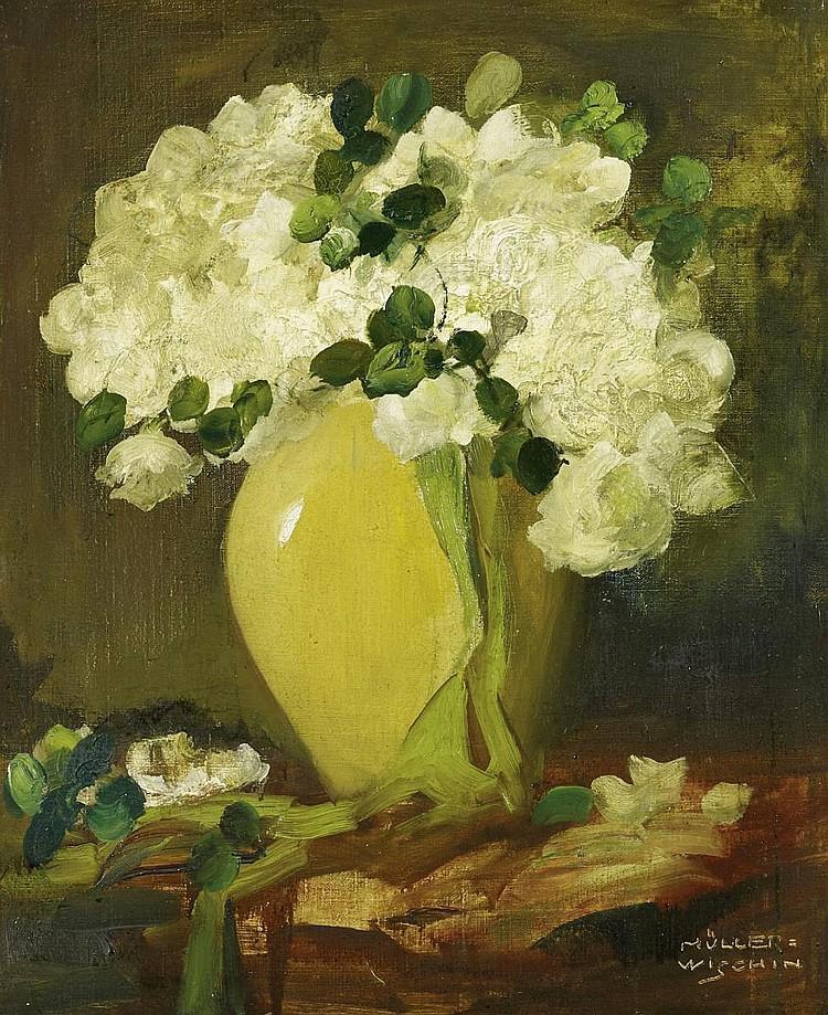 Müller-Wischin, Anton1865 Weißenhorn - 1949 Marquatstein  White roses.