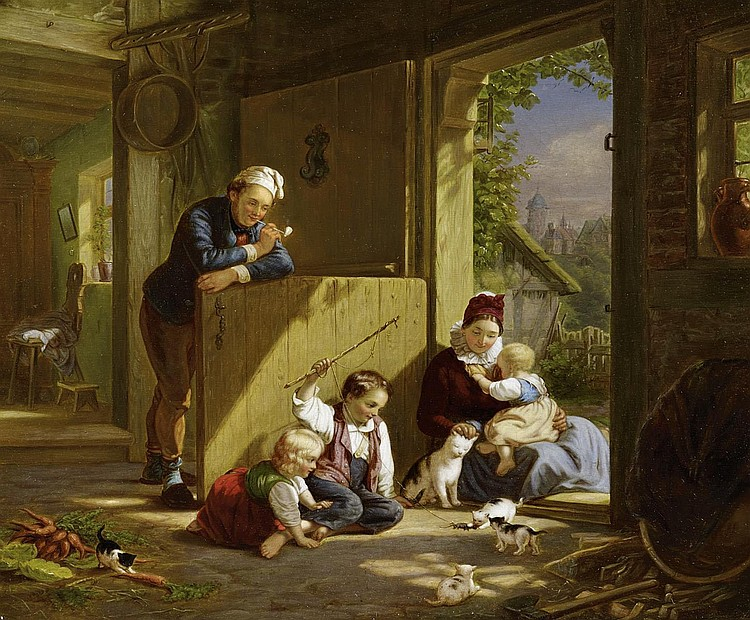 Meyerheim, Eduard1808 Gdansk - 1879 Berlin  Family bliss.