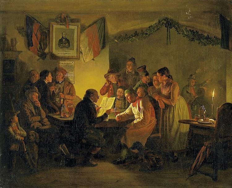 Müller, Carl Friedrich Moritz('Feuermüller')1807 Dresden - 1865 Munich  The Reader.