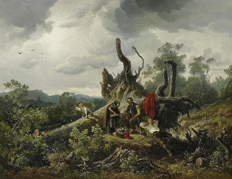Wille, August von1829 Kassel - 1887 Düsseldorf  Resting.
