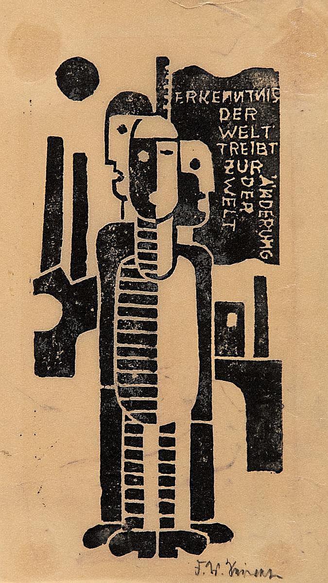 Seiwert, Franz W.Cologne 1894 - 1933 Erkenntnis der Welt treibt zur Änderung der Welt.
