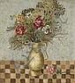 Goller, Bruno1901 Gummersbach - 1998 Düsseldorf Blumenstrauß (Blumetillleben mit Rosen, Blumenstrauß in Vase)., Bruno Goller, Click for value