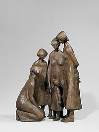 Welzel, Manfred1926 Berlin Large women group with child.