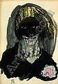 Woman with veil., Jeanne Mammen, Click for value