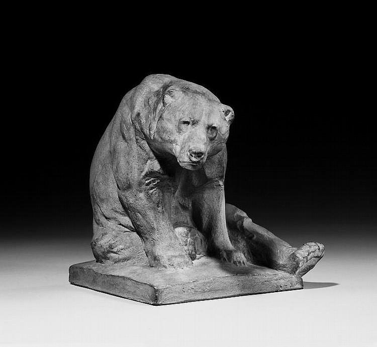 Sitting bear.