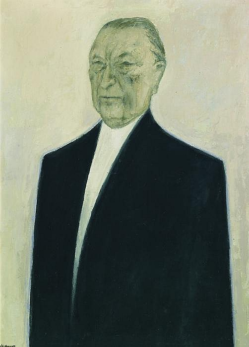 Portrait of Konrad Andenauer.