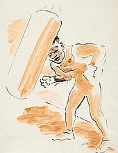 GROSZ, GEORGE Berlin 1891 - 1959 The Boxer. Ca.