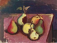 HOFER, KARL 1878 Karlsruhe - 1955 Berlin Pears and