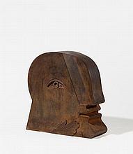 ANTES, HORST 1936 Heppenheim Head. Steel, red