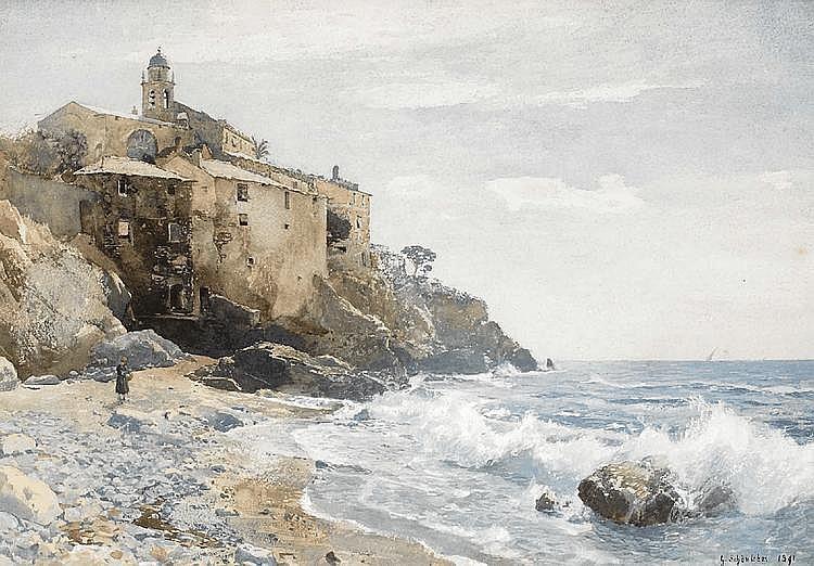 Quinto al Mare an der italienischen Riviera