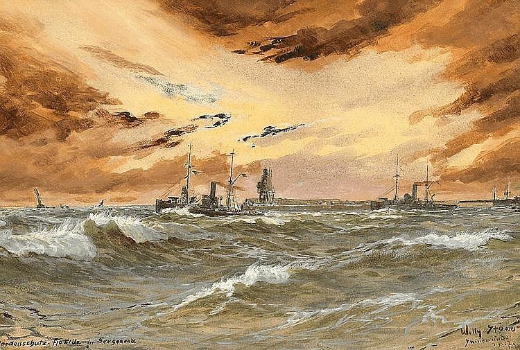 Handelsschutz-Flottille in seegehend