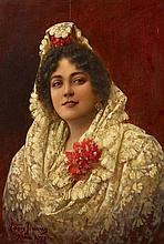 JIMÉNEZ Y ARANDA, LUIS - zugeschriebenPorträt