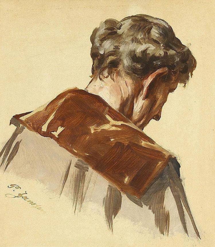 JANSSEN, PETER JOHANNStudie eines Mannes, von