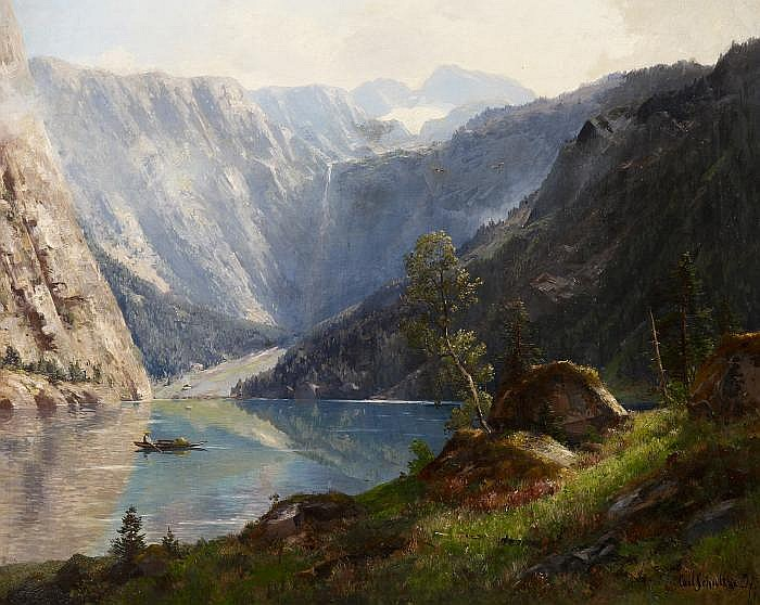 Schultze, Carl1856 Düsseldorf(last mentioned after 1882) The Königssee in the Berchtesgadener Land.