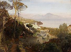 Achenbach, OswaldDüsseldorf 1827 - 1905 View from Sorrent on Capri.