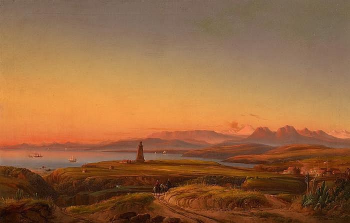Püttner, Josef Carl Berthold1821 Plan - 1881 Vöslau Valparaiso Bay in Chile.