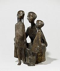 Welzel, Manfred 1926 Berlin Mother with two