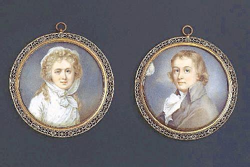 Pair of miniatures.