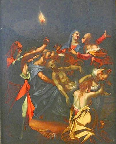 Aachen, Hans von 1552 Cologne - 1615 Prag - follower The Entombement of Christ.