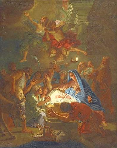 Aachen, Hans von 1552 Cologne - 1615 Prag - successor Adoration of the Shepherds.