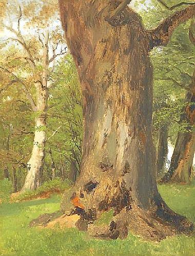 Lugo, Emil 1840 Stockach - 1902 Munich  Die große Eiche.