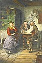 Ostersetzer, Carl 1865 Brody - 1914 VIenna  Sociable round in the parlour., Carl Ostersetzer, Click for value