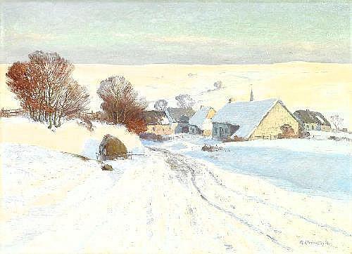 Klein von Diepold, Maximilian 1873 Wilhelmshöhe - 1949 Dorndorf  Cold winterday.