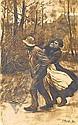 Kampf, Arthur 1864 Aachen - 1950 Castrop-Rauxel  Stormy day., Arthur Kampf, Click for value