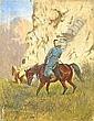 Quaglio, Franz 1844 Munich - 1920 Wasserburg/Inn  Adyghe folk with horses in a mountainous landscape., Franz Quaglio, Click for value