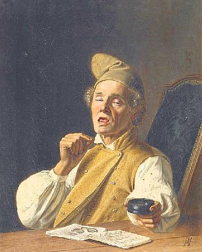 Hasenclever, Johann Peters 1810 Remscheid - 1853 Düsseldorf  The sneezer.