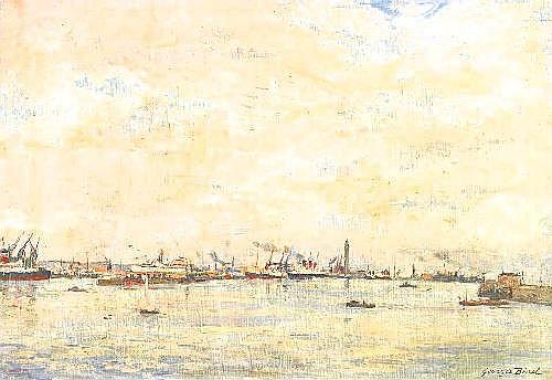 Binet, Georges-Jules-Ernest 1865 Le Havre - 1949 Toulon  Le Havre.