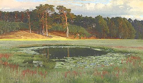 Vorgang, Paul Berlin 1860 - 1927  Märkisch lake in the summer.