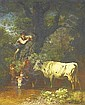 Voltz, Friedrich 1817 Nördlingen - 1886 Munich  By the trough., Friedrich Voltz, Click for value