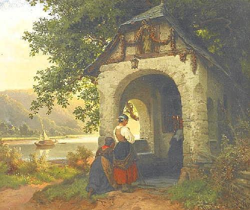Schlesinger, Carl 1825 Lausanne - 1893 Düsseldorf  Capelle an der Mosel.