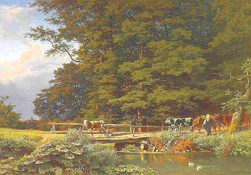 Bromeis, August 1813 Wilhelmshöhe - 1881 Kassel  Returning home.