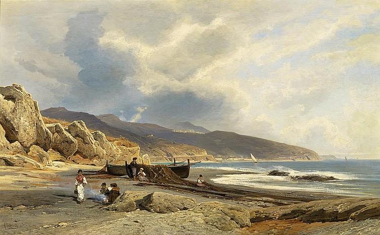 Lutteroth, Ascan Hamburg 1842 - 1923  On the Bordighera Coast.